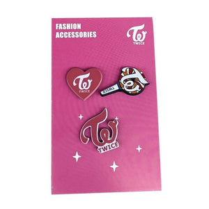 FREE GOT7 EXO BLACKPINK WANNA ONE SEVENTEEN TWICE IZONE Cute Badge Pin 3pc Set