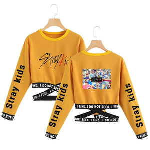 Stray Kids Crop Top Sweatshirt