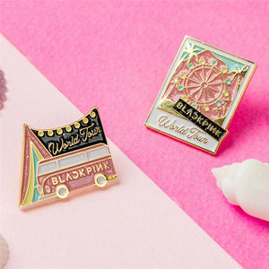 Pink Ferris Wheel Van Blackpink World Tour Badge Pin