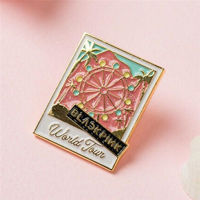 FREE Pink Ferris Wheel Van Blackpink World Tour Badge Pin