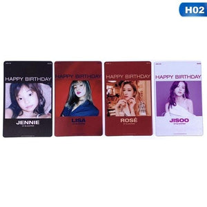 Blackpink Jennie Rose Lisa Jisoo Happy Birthday Clear Photo Card Collectibles