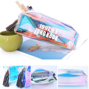 BTS Bangtan Boys EXO GOT7 Seventeen Twice Wanna One Rainbow Pencil Case