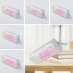 Blackpink  Colorful Laser Clear Pencil Case