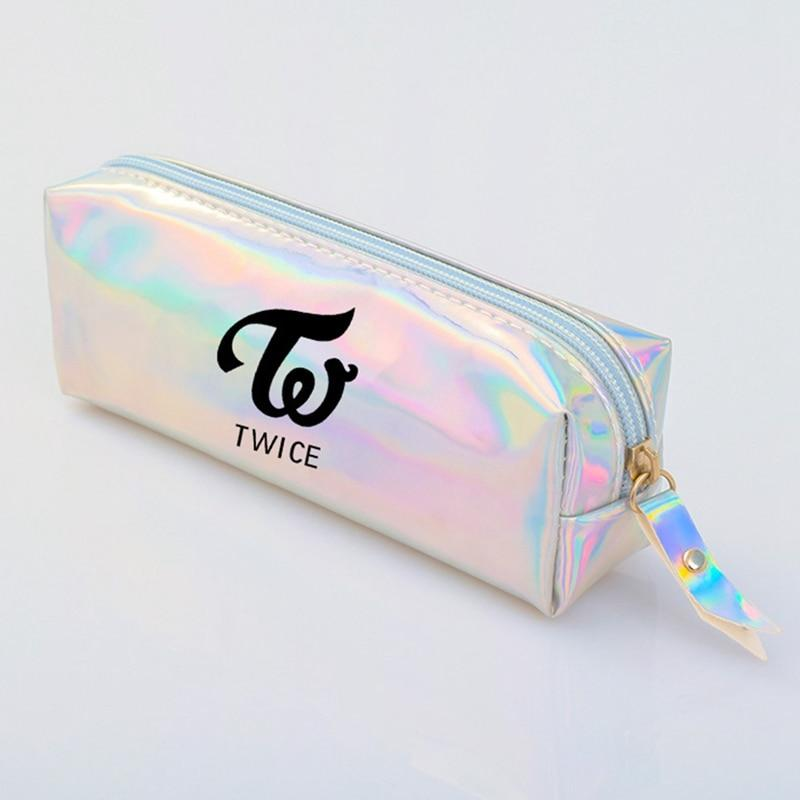 GOT7 Monsta X Twice Colorful Laser Clear Pencil Case