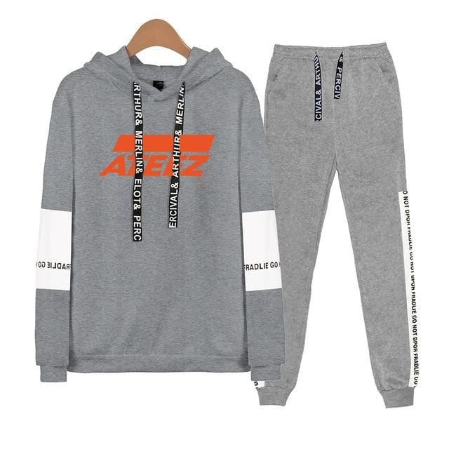 Ateez Tracksuit Hoodie and Sweatpants - 2Pc Set