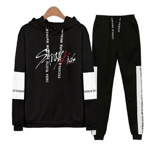 Stray Kids Tracksuit Hoodie and Sweatpants - 2Pc Set