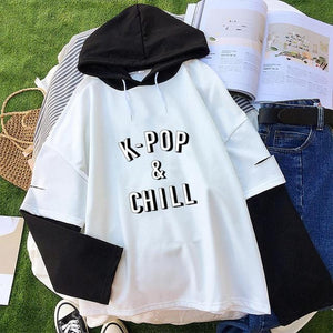 Kpop & Chill Hooded Tshirt