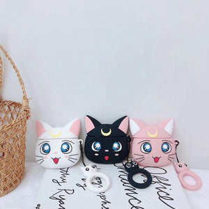 Sailor Moon Luna Cat Airpods Case