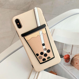 Milk Bubble Tea Drink Phone Case For iPhone
