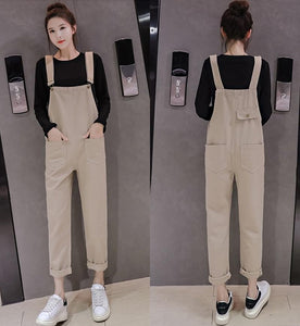 High Waist Denim Overalls