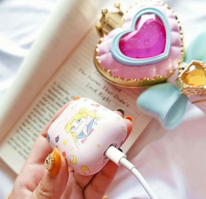 Cute Sailor Moon Plastic Airpods Case