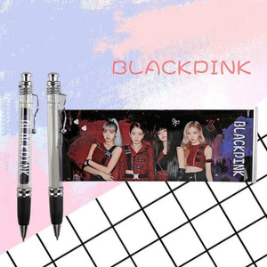 FREE Blackpink Black Ink Gel Pen With Photo