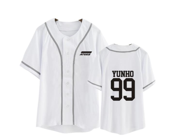 Ateez Member Name Baseball Shirt