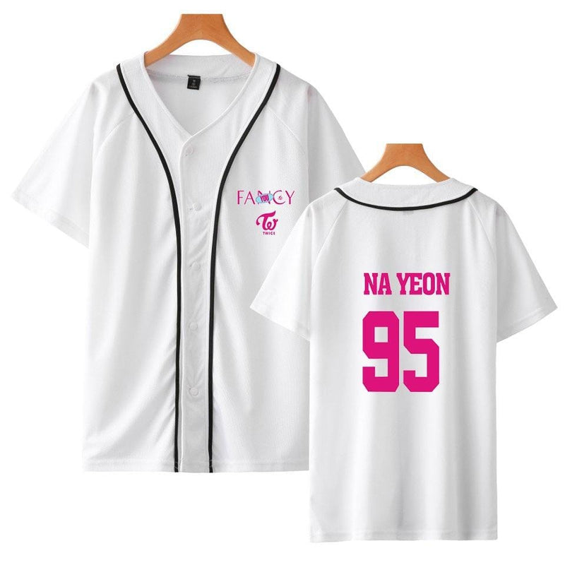 TWICE Fancy You V-neck Baseball Shirt