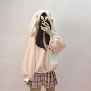 Rabbit Ears Hoodie with Front Pocket