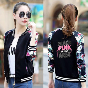 BLACKPINK Floral Printed Sleeves Jacket