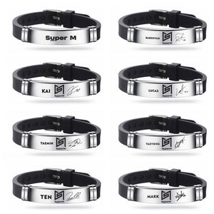 SuperM Charm Bangle Bracelet