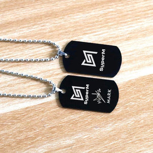 Free - SuperM Chain Necklace - Black