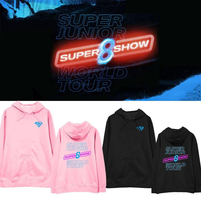SUPER JUNIOR WORLD TOUR SUPER SHOW 8 Album Loose Hoody Pullover Printed Long Sleeve
