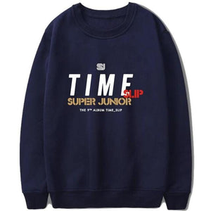 Super Junior Album- Time Slip Loose Harajuku Sweatshirts