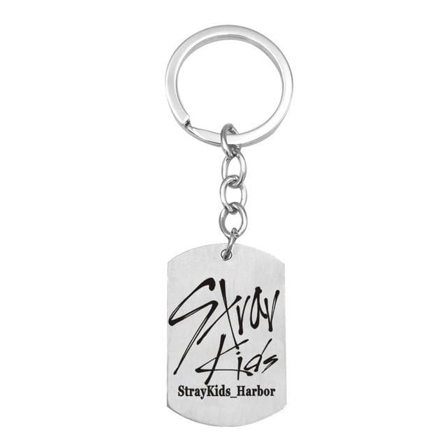 Free Stray Kids Member Signature Stainless Keychain