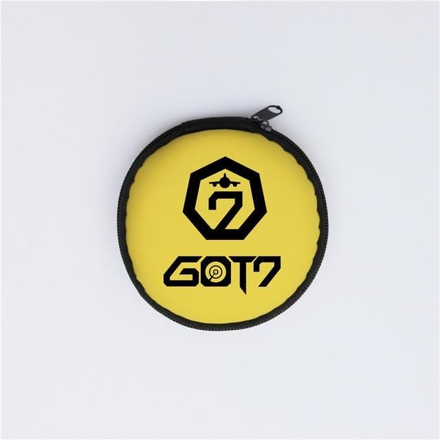 EXO TWICE GOT7 SEVENTEEN Earphone Cable Storage Case