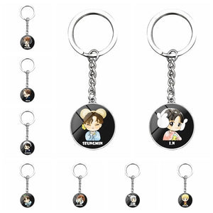 Free Stray Kids Cartoon Keychain