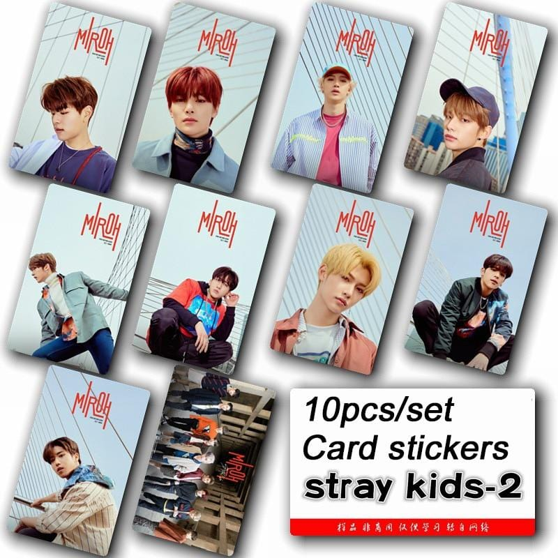 Free Stray Kids MIROH Photo Card Stickers - 10pc Set