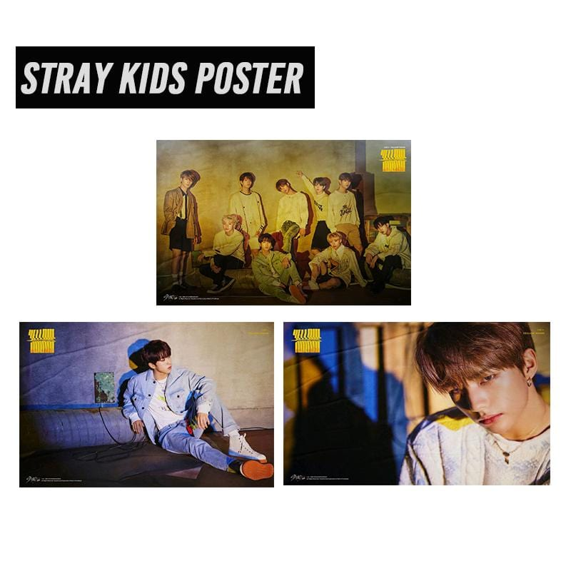 Stray Kids Yellow Wood Album Fabric Poster