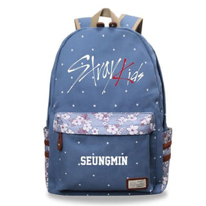Stray Kids Pastel Floral Backpack