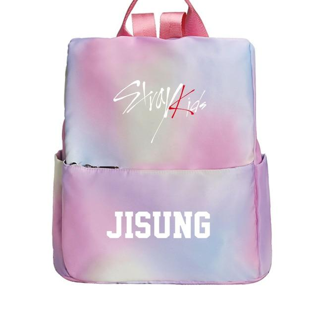 Stray Kids Rainbow Canvas Backpack
