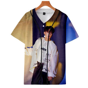 Stray Kids Yellow Wood 3D Printed Baseball Shirt