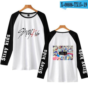 Stray Kids Raglan Style Long Sleeve Shirt