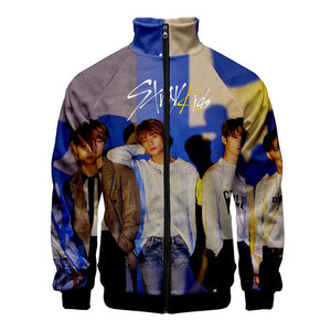 Stray Kids Yellow Wood 3D Stand Collar Jacket