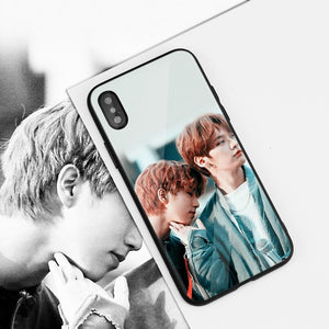 Stray Kids Tempered Glass Case For iPhone