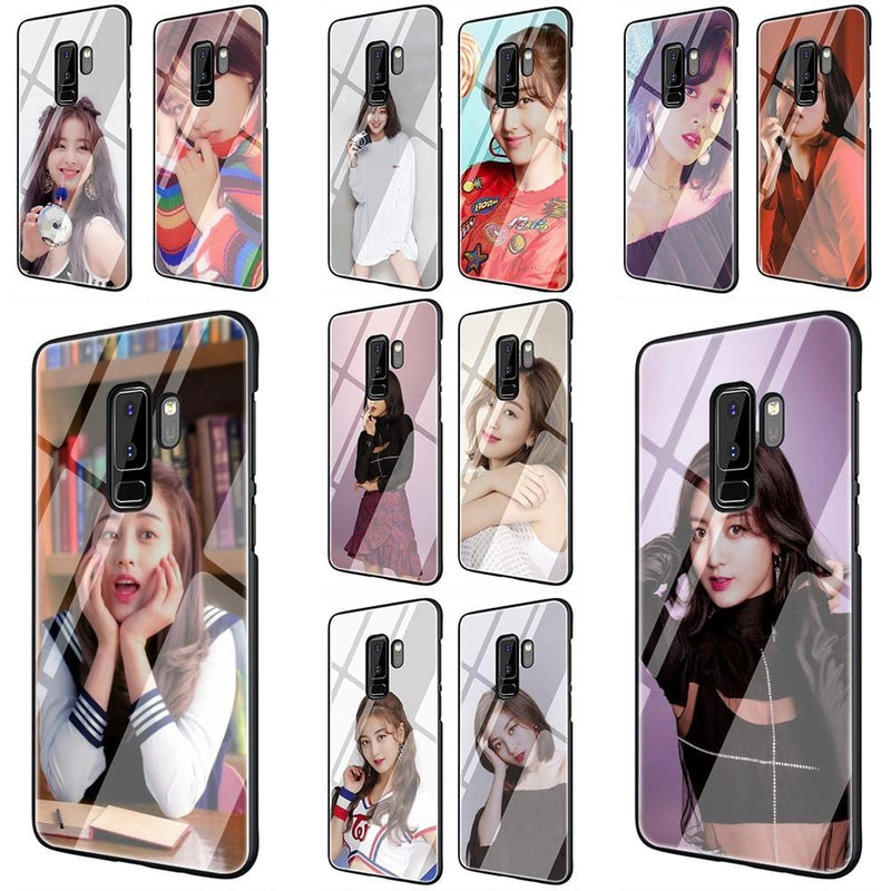 TWICE Tempered Glass Phone Case For Samsung