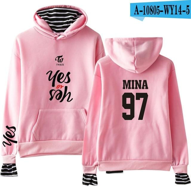 TWICE Yes or Yes Printed 'Two Piece' Hoodie