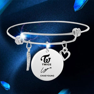 Free Twice Member Signature Bangle Bracelet