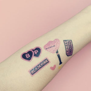 BLACKPINK TWICE GOT7 EXO SEVENTEEN Glitter Tattoo Sticker