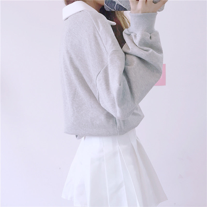 Japanese Cute Heart Loose Pullover