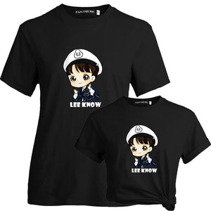 Stray Kids Lee Know Cute Cartoon T-Shirt