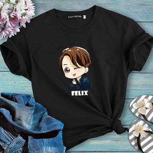 Stray Kids Felix Cute Cartoon T-Shirt
