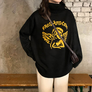 Vintage Angel Loose Turtleneck Sweatshirt