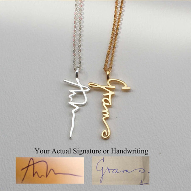 Personalized Cursive Nameplate Necklace