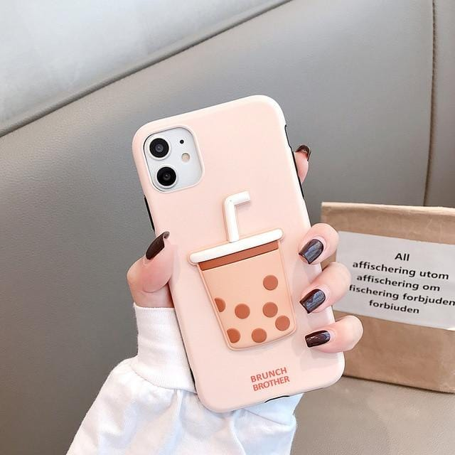 Silicone Bubble Tea Cover for IPhone
