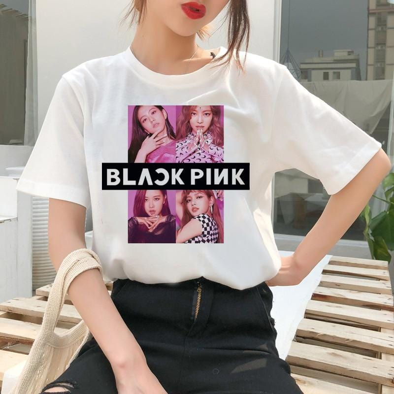 BLACKPINK Ulzzang Graphic Printed Top