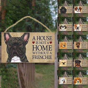 Dog House  Wooden Tag