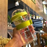 Bubble Tea Portable Plastic Tumbler with Reusable Straw