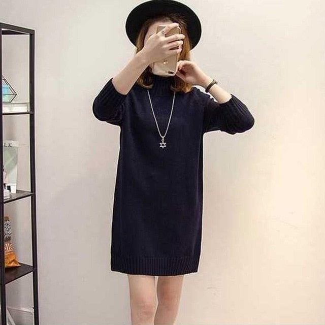 Winter Slim Sweater Dress