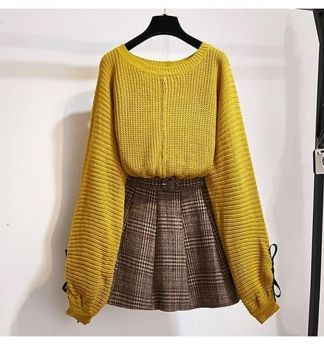 Hannah Knitted Top And Skirt